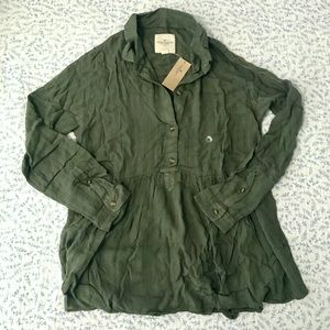 American Eagle Outfitters AEO Olive Green Top